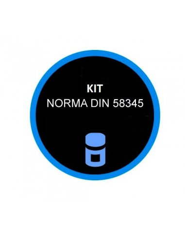Kit DIN 58345 con batteria Extra per Black-Out per Frigoriferi Farmacia - Termostato di Sicurezza
