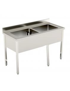 Lavello Inox - 2 Vasche -...
