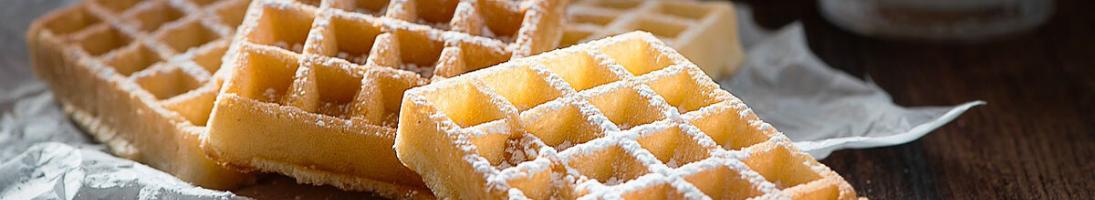 La piastra Waffel per Caffetteria. Waffel dolci e salati