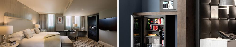 Accessori per Camera Hotel | Cassaforte | Grucce Legno | Minibar